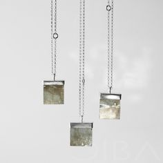 Pyrite RB0006   An exclusive, sterling silver necklace with pyrite. Take even the simplest outfit to the next level with this gorgeous, pure and minimalist design. A showcase piece, this necklace shines by itself without the need for other jewelry. A perfect gift for yourself or someone special!  CIBA artistic jewelry can unexpectedly and completely change the character of an outfit. Try it and see for yourself!  $78.29 Click to see details!
