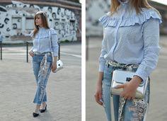 Polka dot blouse & mom jeans. - The Dress Sense