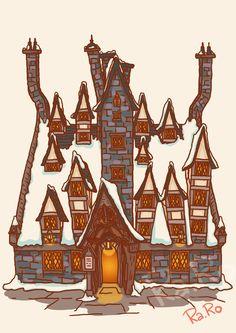 Diagon Alley: The Three Broomstick by RaRo81.deviantart.com on @DeviantArt