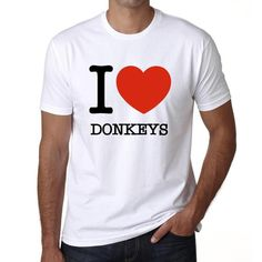 #I #love #donkeys #white #tshirt #men #animals  Animals are precious so show them your love! Buy now, online --> https://www.teeshirtee.com/collections/i-love-animals-mens-t-shirt-white/products/donkeys-i-love-animals-mens-short-sleeve-rounded-neck-t-shirt-100-cotton-available-in-sizes-s-m-l-xl-xxl