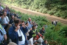 Railfan photgraphers awaiting for a special train - Wikipedia