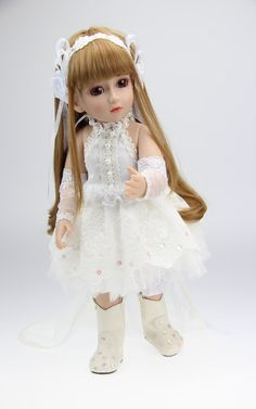 83.57$  Buy now - http://alij1h.worldwells.pw/go.php?t=32366018011 - Vinyl lifelike pricess american girl joint dolls SD BJD 1/4 doll toy wedding birthday children gift play house girl brinquedos 83.57$
