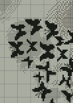 Fly Butterfly Fly Cross Stitch or Needlepoint by CowichanValley