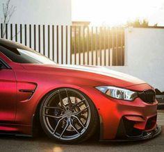 BMW F82 M4 red slammed