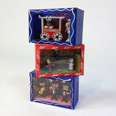 Small Glassed Day of the Dead Boxes