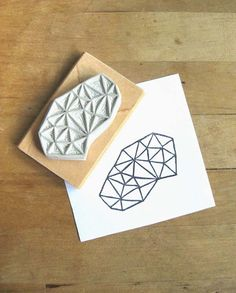 Crystal Configuration 30  Hand Carved Stamp