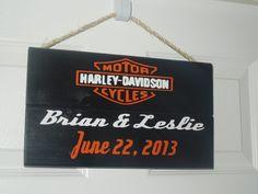 Harley Davidson Wedding Anniversary https://www.facebook.com/JennyontheBlockKeepsakes