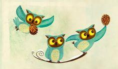 Cute owls by Todd Hemker