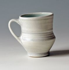 Pottery mug porcelain by NellHazinskiPottery on Etsy, $22.00