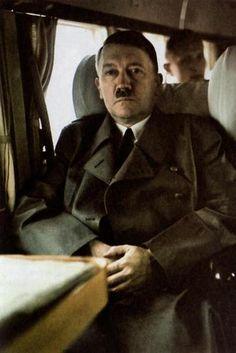 Hitler in a train