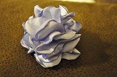 Puffy fabric flower