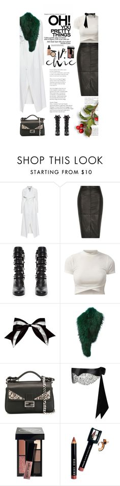 """""""Untitled #2492"""" by amimcqueen ❤ liked on Polyvore featuring Plein Sud, River Island, Isabel Marant, Chassè, Barbara Bui, Fendi, Agent Provocateur and Bobbi Brown Cosmetics"""