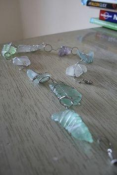 DIY sea glass jewelry | http://awesomewomensjewelry.blogspot.com