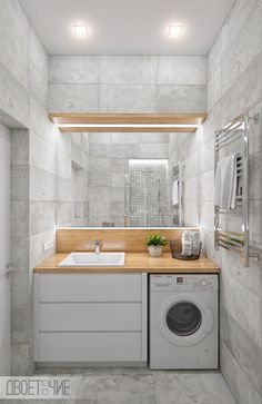 Bucha on Behance Kitchen Room Design, Laundry Room Design, Home Room Design, Home Decor Kitchen, Home Interior Design, Bathroom Design Luxury, Bathroom Layout, Modern Bathroom Design, Small Toilet Room