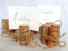 wine cork placecard holders