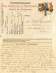 Correspondance des Armées - Monsarrat pour son épouse à Aiguefonde (Tarn) le 19 mai 1916 (from http://mercipourlacarte.com/picture?/1098/)