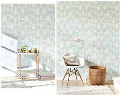 Tapet 98169: Alice Soft Green/Turquoise/Grey/ Cream White från Majvillan - Tapetorama