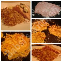 LACHS AUF ZWIEBELBETT MIT SPAGHETTIIPUFFER Rezept: http://babsiskitchen-foodblog.blogspot.de/2015/07/lachs-auf-dem-zwiebelbett-mit.html