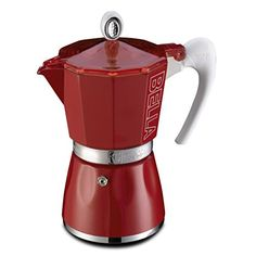GAT Bella 3 Cup Stove Top Traditional Italian Espresso Coffee Maker Pot in Red ** Visit the image link more details. Note:It is affiliate link to Amazon.