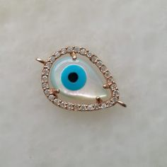 Rose Gold Evil Eye Connector Rose Gold by anatoliantalesupply