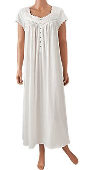 I LUV nightgowns that look like old fashioned underthings. So sweet and simple.