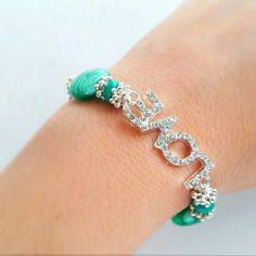 Love Mint Green Crystal Bracelet