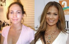 we have compiled 30 photos of celebrities without makeup, and they are quite hard to recognize. From Cameron Diaz and Jennifer Lopez to the super hot Kim Kardashian – this list won't disappoint you. Famous Celebrities, Hollywood Celebrities, Photoshop Celebrities, Jennifer Lopez Sans Maquillage, Jennifer Lopez Without Makeup, Celebs Without Makeup, Makeup Before And After, Celebrities Before And After, Cameron Diaz