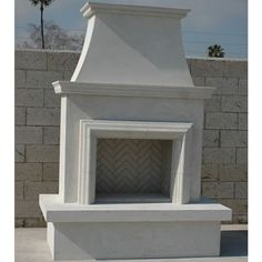 Unfinished prefabricated contractor model fireplace for Prefabricated outdoor fireplace kits