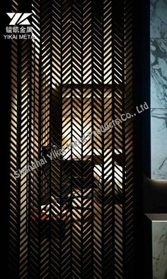 Metal Screen Decorative stainless steel Room Divider Ideas Bedroom, Entry Doors, Front Entry, Stainless Steel Screen, Grill Door Design, Room Partition Designs, Metal Screen, Valance Curtains, Blinds