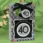 Adult 40th Birthday - Classic Personalized Birthday Party Favor Boxes