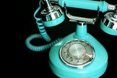 Tiffany Blue Telephone / Love Shape & Color ~Repinned Via Sharon Gervais
