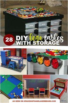 DIY Lego Tables with Storage