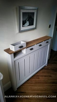 All items are made to measure. The price is for white cover up to 3 ft wide with 3 draws and pine top. For more information please call or email us and we can help you to our best ability. 07809411935 Alan alankaybespokejoinery