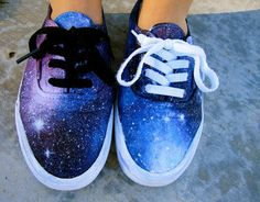 DIY GALAXY VANS -- I want to do this with my white keds.