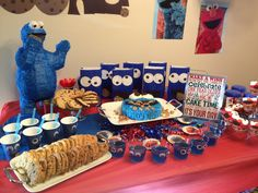Cookie Monster Birthday! Such a fun theme!