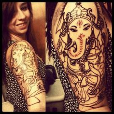 Ganesha tattoo. Done by GLENN R. COLLINS @ Broken Lantern Tattoo Studioin Charleston, SC.
