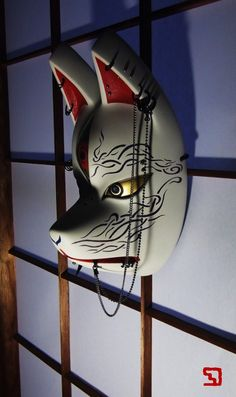 Anbu Mask, Japanese Fox Mask, Aesthetic Objects, Kitsune Mask, Ceramic Mask, Japanese Folklore, Cool Masks, Oriental Pattern, Mask Design
