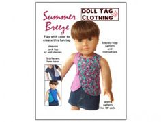 American Girl Doll clothes pattern - Summer Breeze Shirt | Liberty Jane Doll Clothes Patterns For American Girl Dolls