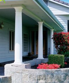 Wood Colonial #Columns -  The #craftsmanship and practical price of our Wood Colonial columns are the choice of #homeowners and builders who desire a more traditional style made from natural materials.  Paint-grade Western Pine columns are ready for immediate delivery, so you can complete your projects on time and within budget.  Available in Round or Square, Tapered or Non Tapered, Fluted or Non Fluted.  Learn More, Visit…
