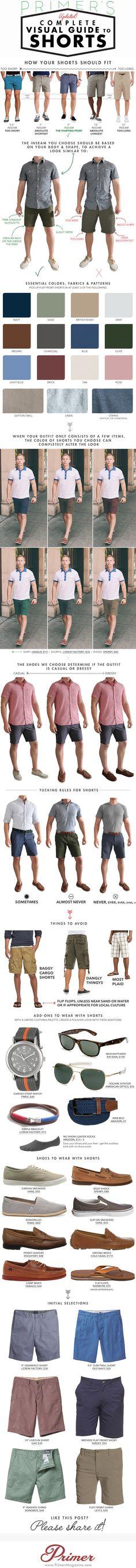 Pantalones cortos para hombre, la guía definitiva.