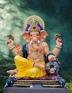 Make this Ganesha Chathurthi 2020 special with rituals and ceremonies. Lord Ganesha is a powerful god that removes Hurdles, grants Wealth, Knowledge & Wisdom. Lord Ganesha, Jai Ganesh, Ganesh Idol, Ganesh Statue, Shree Ganesh, Baby Ganesha, Baby Krishna, Lord Vishnu, Lord Shiva