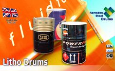 We offer a complete Branding service for New Litho Steel Drums, from design through to implementation.