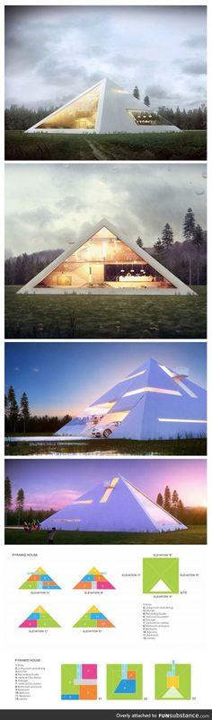 Modern pyramid home