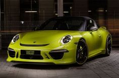 The crew from the famous tuning company TechArt have put their hands on Porsche 911 Targa 4 and well. pushed out a host of goods. First thing that grabs your attention is the lime green exterior col. Porsche 911 Targa 4s, Porsche Cars, Audi, Bmw, Automobile Industry, Modified Cars, Car Car, Sport Cars, Motor Car