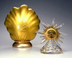 Schiaparelli Perfumes: Le Roy Soleil by Schiaparelli c1946 Perfume Names, Perfume Bottles, Baccarat Crystal, Salvador Dali, Vintage Perfume, Harpers Bazaar, Bottle Design, Decorative Bowls, Glass Art
