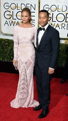 Golden Globe Awards 2015: Christine Teigen and John Legend