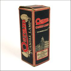 """TINS & PACKAGING - Vintage Osram """"Candle Lamp"""" Electric Light Bulb In Packet."""