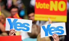 Scottish referendum campaigners -   Scottish referendum too close to call, says ICM poll  Guardian/ICM poll finds support for no campaign on 51% and yes on 49% with less than a week to go, but 17% of voters say they have yet to make up their mind
