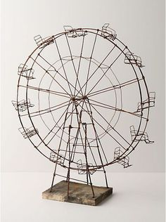 Weatherworn Ferris Wheel - the wire art of Katie Armour