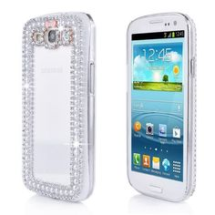 3D Bling Pearl  Rhinestone Bowknot crystal back case for Samsung Galaxy S3
